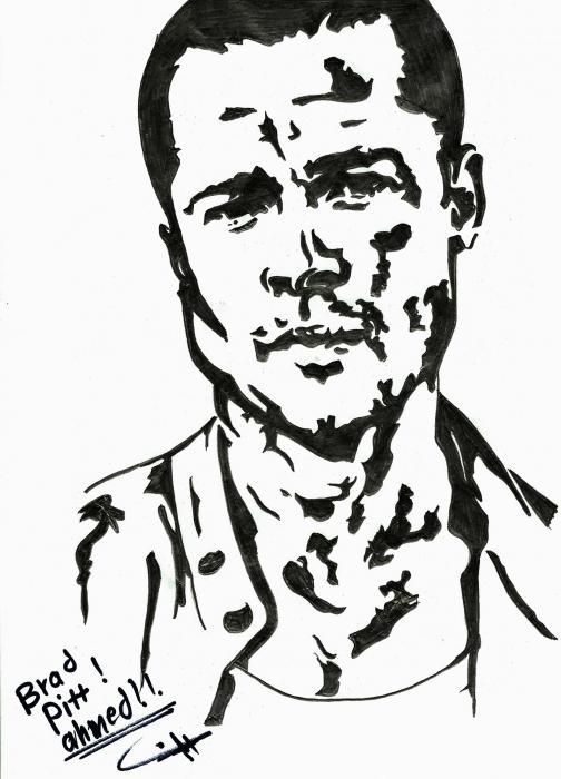 Brad Pitt by ashrey